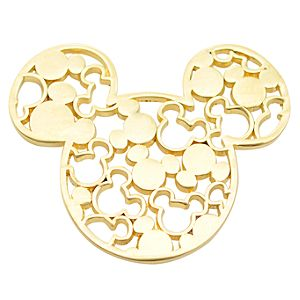 Gold Filigree Icon Mickey Mouse Pin