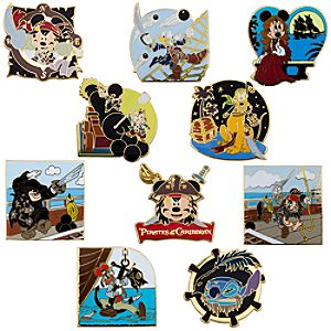Mickey and Friends Pirates of the Caribbean Mystery Pin Set -- 2-Pc.