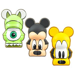 Mickey, Pluto, Mike Wazowski Pin Set - 3-Pc