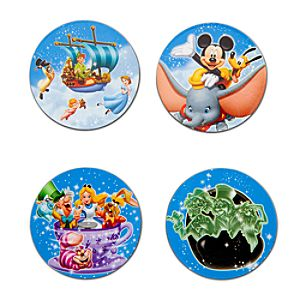 Disney Storybook Attractions Magnet Set -- 4-Pc.
