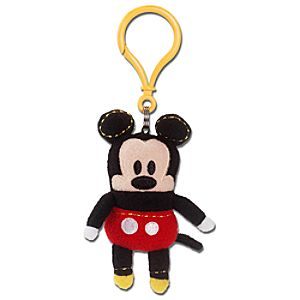 Pook-a-Looz Mickey Mouse Plush Toy Keychain -- 5''