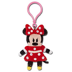 Pook-a-Looz Minnie Mouse Plush Toy Keychain -- 5''
