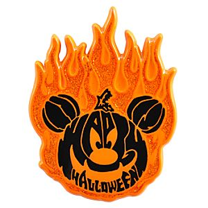 Halloween Fiery Pumpkin Mickey Mouse Pin