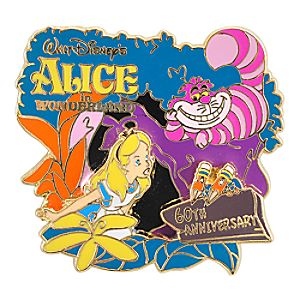 60th Anniversary Alice in Wonderland Pin