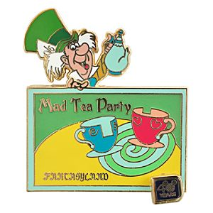 40th Anniversary Walt Disney World Mad Hatter Tea Party Pin