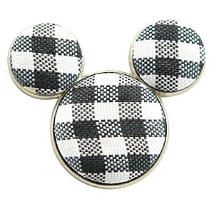 Cloth Black Checkerboard Icon Mickey Mouse Pin