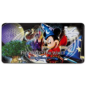 Four Parks One World Walt Disney World License Plate