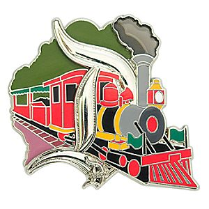 Gothic D Disneyland Railroad Pin