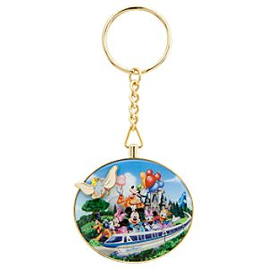 Storybook Walt Disney World Resort Flying Dumbo Key Chain