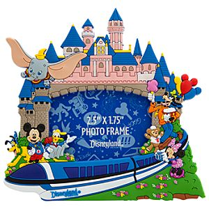 Storybook Disneyland Resort Photo Frame Magnet -- 2 1/2 x 1 3/4
