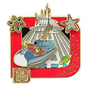Classic D Collection -- Stitch Space Mountain Pin
