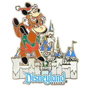 Disneyland Reindeer Mickey Mouse Pin