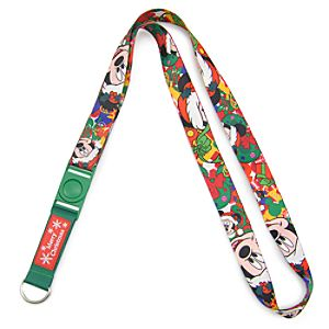 Holiday Santa Mickey Mouse Lanyard
