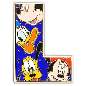 Alphabet Mickey Mouse and Friends Pin -- L