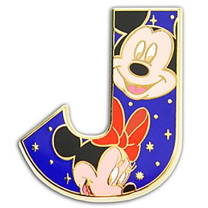 Alphabet Mickey and Friends Pin -- J