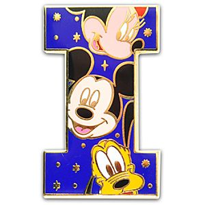Alphabet Mickey Mouse and Friends Pin -- I