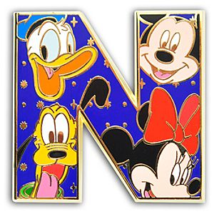 Alphabet Mickey Mouse and Friends Pin -- N