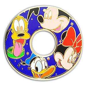 Alphabet Mickey Mouse and Friends Pin -- O