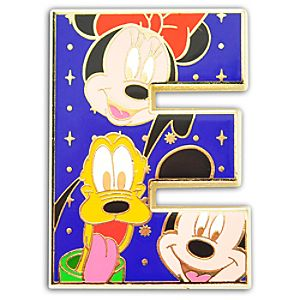 Alphabet Mickey Mouse and Friends Pin -- E