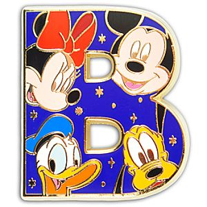 Alphabet Mickey Mouse and Friends Pin -- B