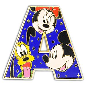 Alphabet Mickey Mouse and Friends Pin -- A