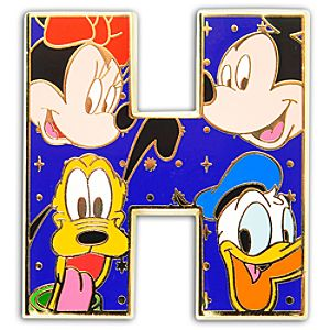 Alphabet Mickey Mouse and Friends Pin -- H
