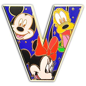 Alphabet Mickey Mouse and Friends Pin -- V
