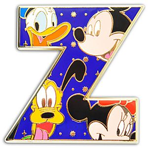 Alphabet Mickey Mouse and Friends Pin -- Z