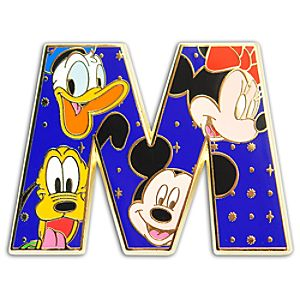 Alphabet Mickey Mouse and Friends Pin -- M