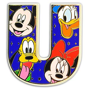 Alphabet Mickey Mouse and Friends Pin -- U