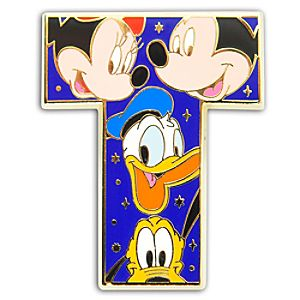 Alphabet Mickey Mouse and Friends Pin -- T