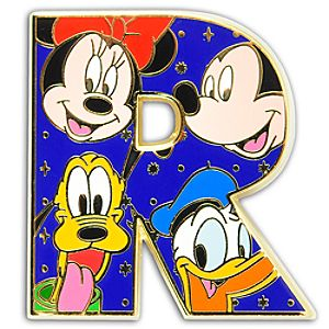 Alphabet Mickey Mouse and Friends Pin -- R