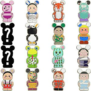 Vinylmation Jr. its a small world Series 4 Mystery Pin Set -- 5-Pc.