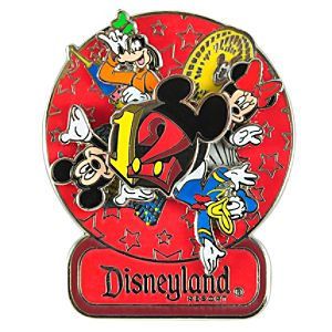 Spinner 2012 Disneyland Mickey Mouse and Friends Pin