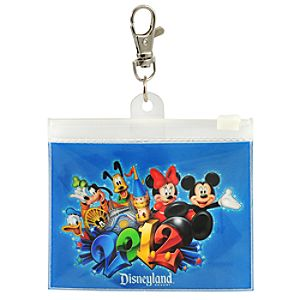 2012 Disneyland Mickey Mouse and Friends Lanyard Pouch