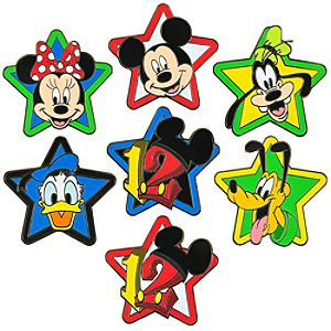 2012 Mini Mickey Mouse and Friends Pin Set -- 7-Pc.