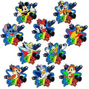 2012 Disney Characters Mystery Pin Set -- 2-Pc.