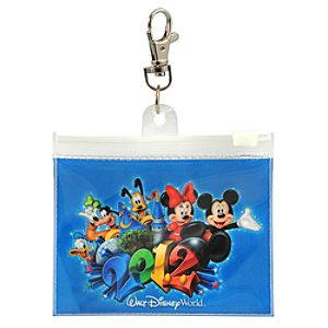2012 Walt Disney World Mickey Mouse and Friends Lanyard Pouch