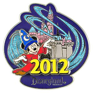 2012 Where Magic Lives Disneyland Sorcerer Mickey Mouse Pin