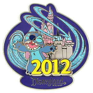 2012 Where Magic Lives Disneyland Stitch Pin