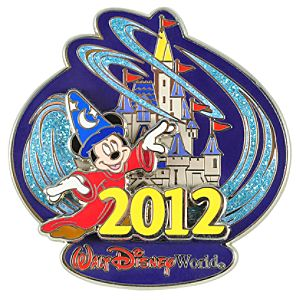 2012 Where Magic Lives Walt Disney World Sorcerer Mickey Mouse Pin