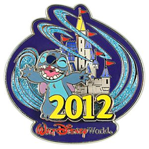 2012 Where Magic Lives Walt Disney World Stitch Pin