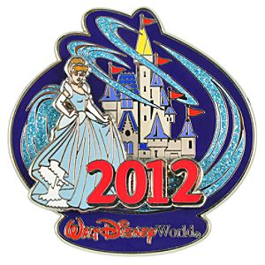 2012 Where Magic Lives Walt Disney World Cinderella Pin