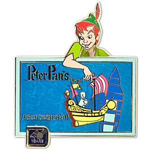 40th Anniversary Walt Disney World Peter Pans Flight Pin