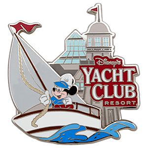 Disneys Yacht Club Resort Mickey Mouse Pin