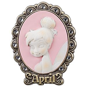 Tinker Bell Cameo Birthstone Pin -- April