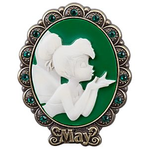 Tinker Bell Cameo Birthstone Pin -- May