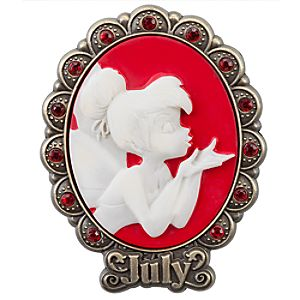 Tinker Bell Cameo Birthstone Pin -- July