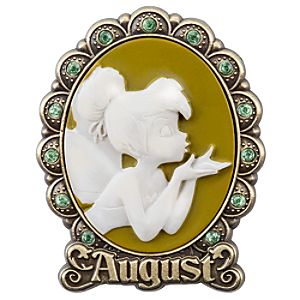 Tinker Bell Cameo Birthstone Pin -- August
