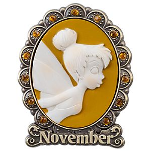 Tinker Bell Cameo Birthstone Pin -- November